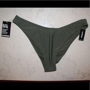 Express   high cut army green bikini bottoms